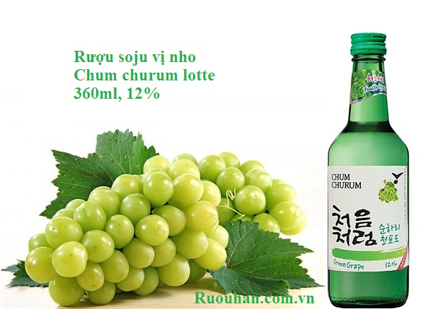 Rượu soju chum churum nho-Green Grape