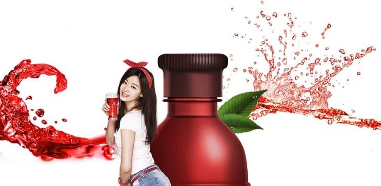 nước trái cây pha rượu soju hàn quốc